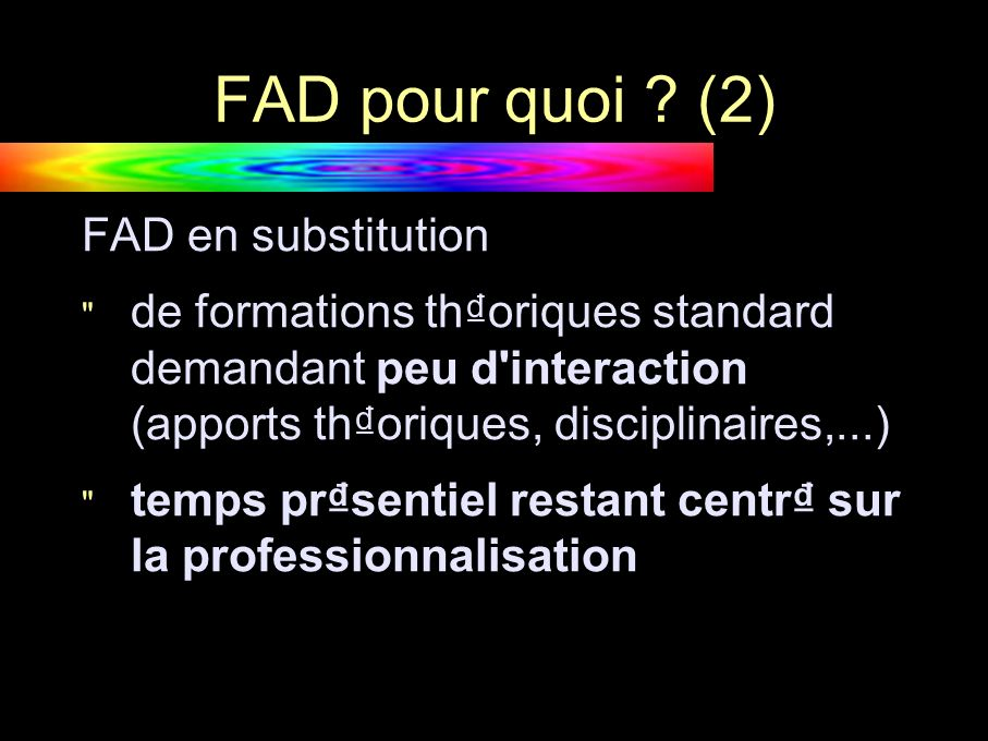 FAD comment .