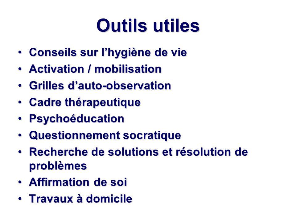 Outils utiles Conseils sur lhygiène de vieConseils sur lhygiène de vie Activation / mobilisationActivation / mobilisation Grilles dauto-observationGri