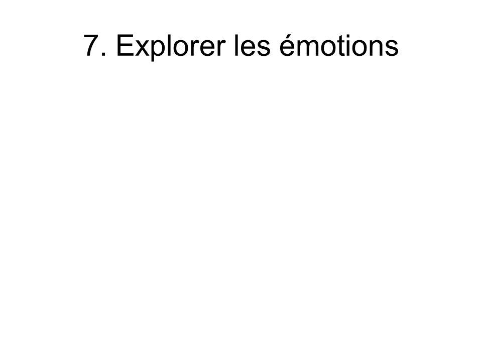 7. Explorer les émotions