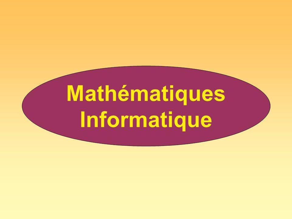 . Mathématiques Informatique