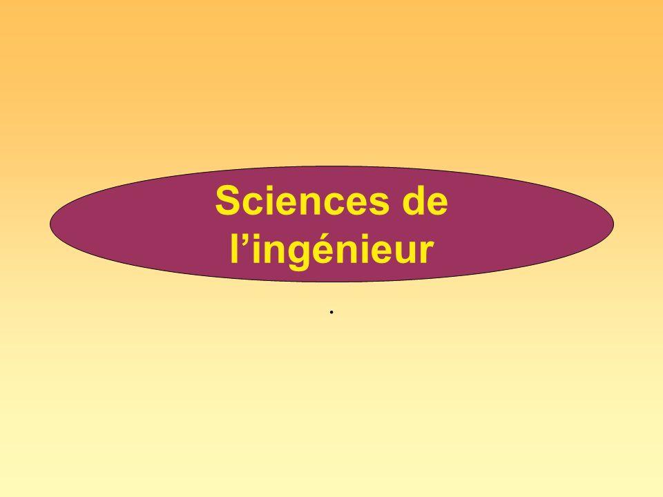. Sciences de lingénieur