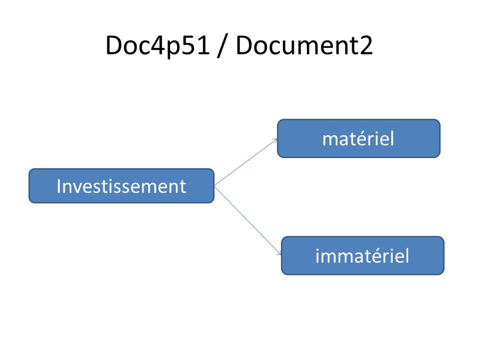 Doc4p51 / Document2 Investissement matériel immatériel