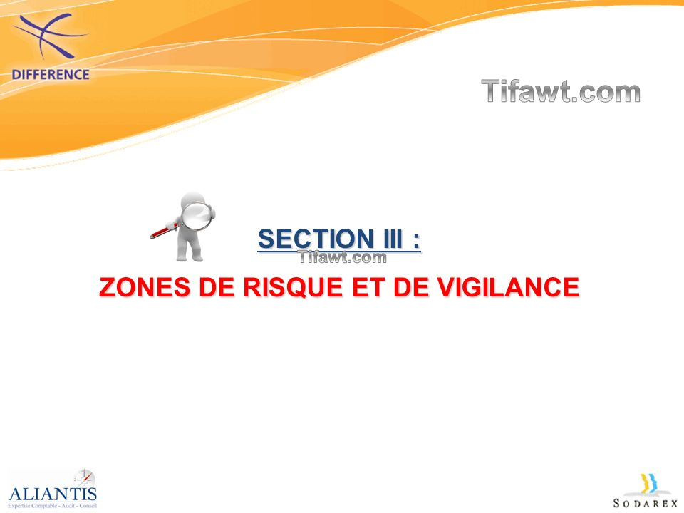SECTION III : ZONES DE RISQUE ET DE VIGILANCE