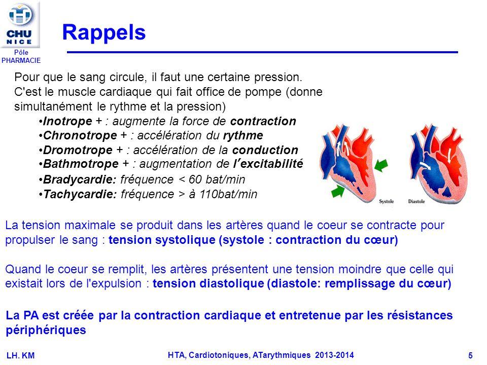 Pôle PHARMACIE K.MULLER 6 I – GENERALITES I-1 Rappels physiologiques