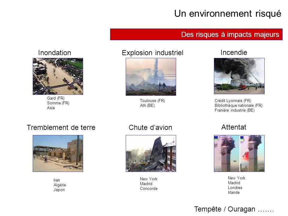 AVRIL 2005 Thierry RAMARD 38 Des risques à impacts majeurs Inondation Incendie Tremblement de terre Attentat Un environnement risqué Chute davion Expl