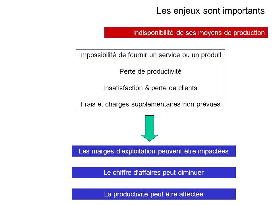 AVRIL 2005 Thierry RAMARD 43 Les enjeux sont importants Les marges dexploitation peuvent être impactées Le chiffre daffaires peut diminuer La producti
