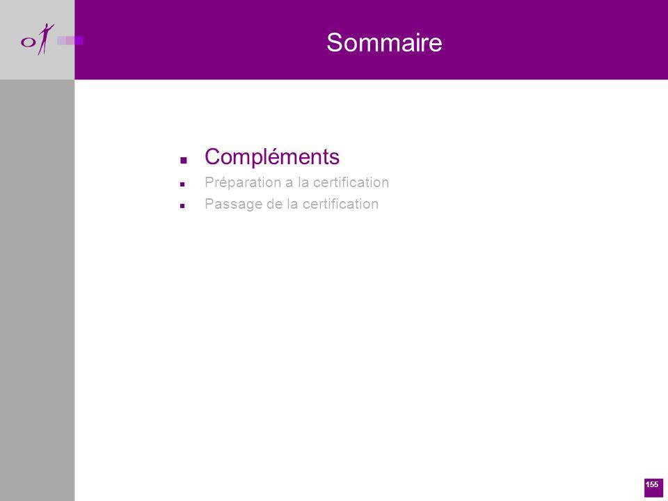 155 n Compléments n Préparation a la certification n Passage de la certification Sommaire