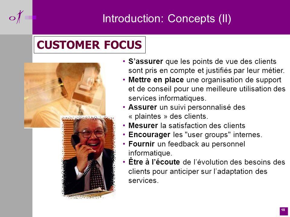 18 Sassurer que les points de vue des clients sont pris en compte et justifiés par leur métier.