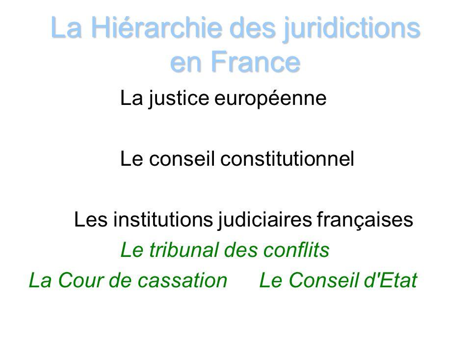 La justice européenne La Cour de justice de l Union Européenne (CJUE) dénommée CJCE avant le Traité de Lisbonne, regroupe la Cour de justice, le Tribunal et le Tribunal de la fonction publique.
