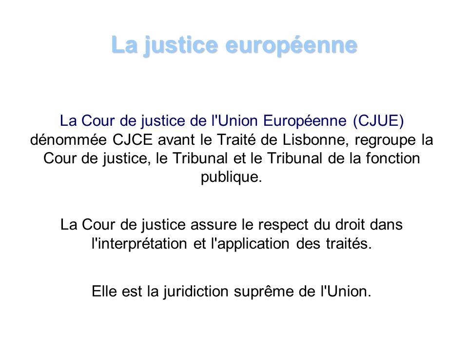 La Cour européenne des droits de lhomme (CEDH) nest pas une institution de lUnion européenne.