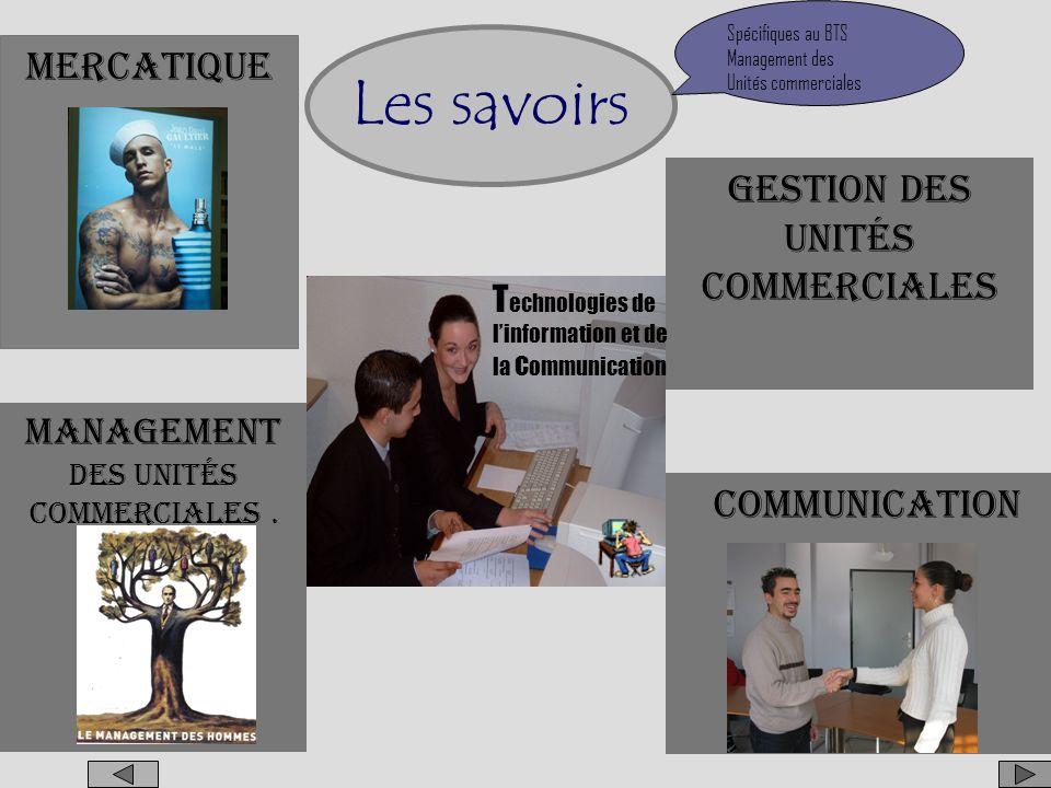 Français Droit Economie Langue vivante 1 Langue vivante 2 (Facultatif) Les savoirs Identiques à ceux du BTS Action Commerciale