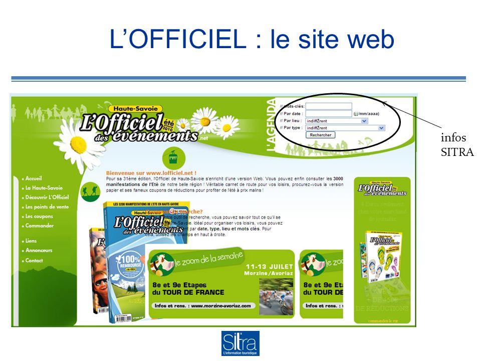 LOFFICIEL : le site web infos SITRA