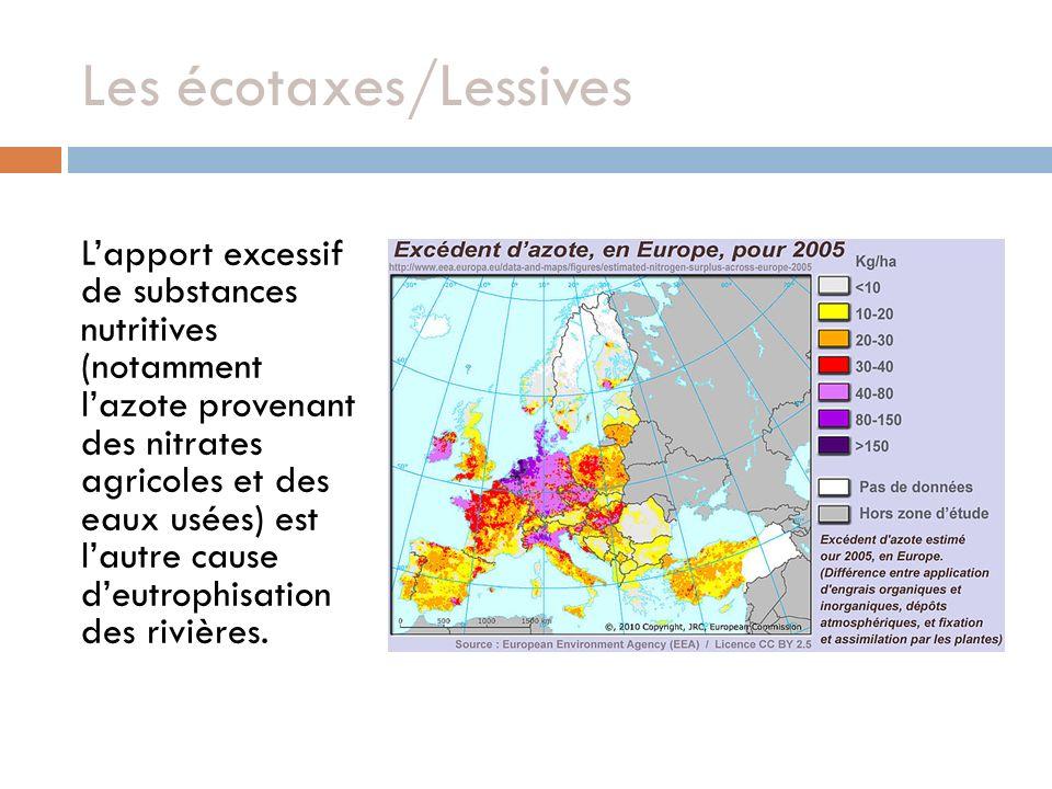 Lapport excessif de substances nutritives (notamment lazote provenant des nitrates agricoles et des eaux usées) est lautre cause deutrophisation des rivières.