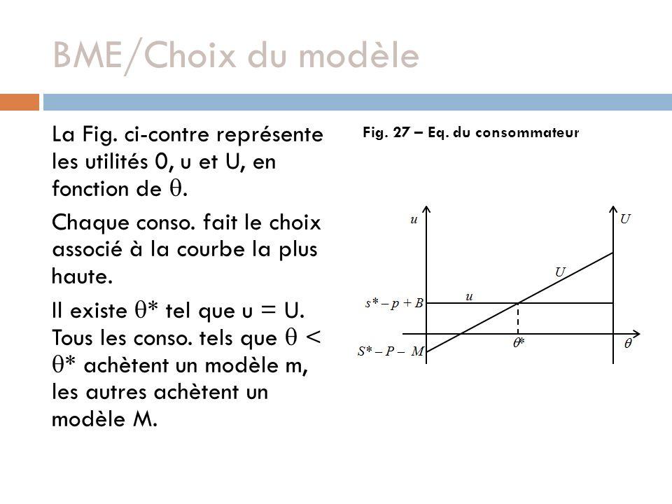 La Fig. ci-contre représente les utilités 0, u et U, en fonction de. Chaque conso. fait le choix associé à la courbe la plus haute. Il existe * tel qu