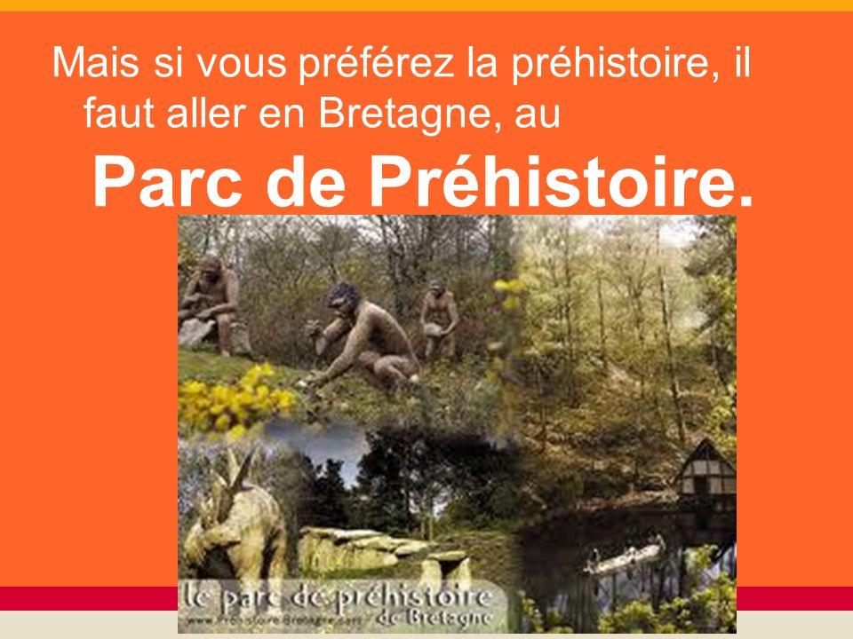 Mais si vous préférez la préhistoire, il faut aller en Bretagne, au Parc de Préhistoire.