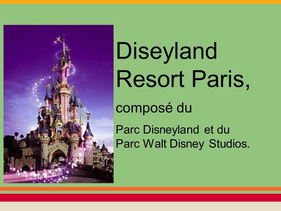 Il est divisé en cinq pays imaginaires:Main Street, Frontierland, Adventureland, Fantasyland et Discoveryland.
