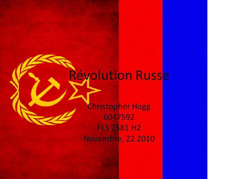 Révolution Russe Christopher Hogg 6047592 FLS 2581 H2 Novembre, 22 2010