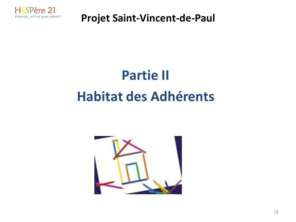 Projet Saint-Vincent-de-Paul Partie II Habitat des Adhérents 18