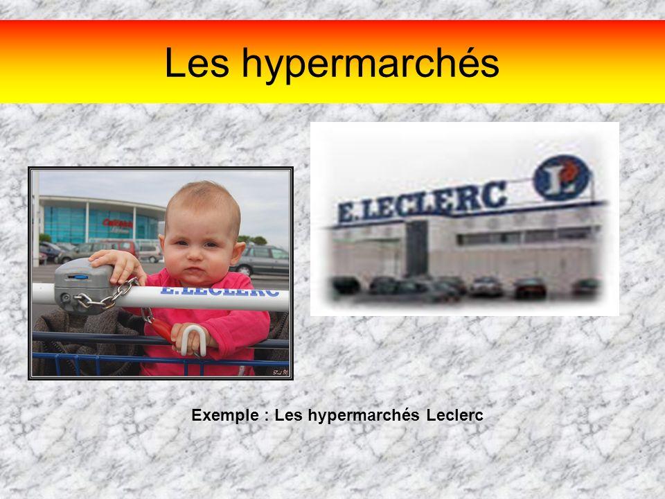 Les hypermarchés Exemple : Les hypermarchés Leclerc
