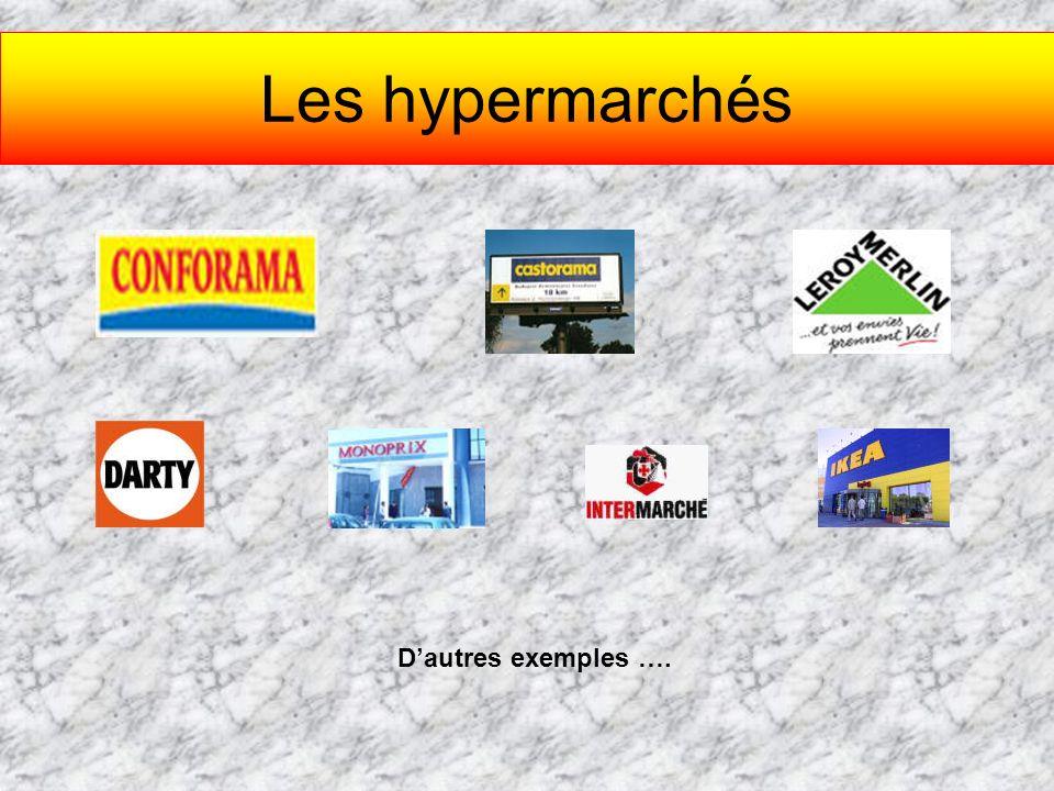 Les hypermarchés Dautres exemples ….