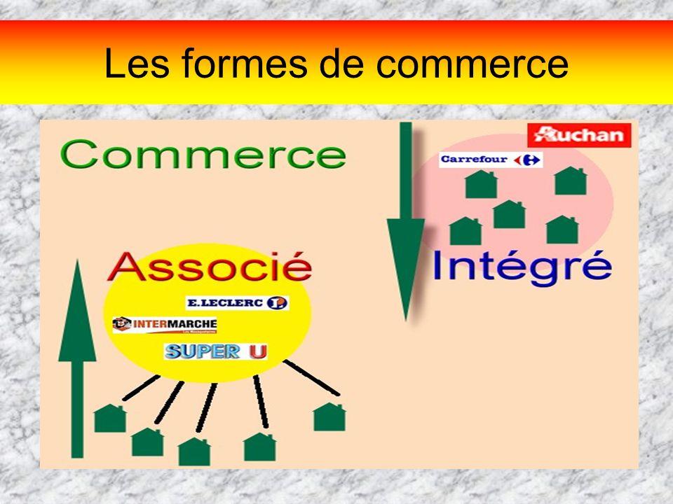 Les formes de commerce