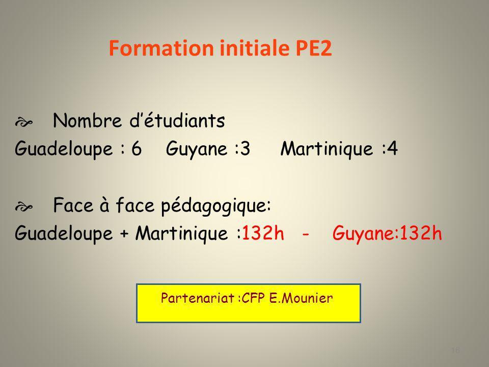 Site Guadeloupe et Martinique 7 semaines de stage à Paris 120 heures assurées par les formateurs E.Mounier sur site Site Guyane 7 semaines de stage à Paris 120 heures assurées par les formateurs E.mounier sur site 17