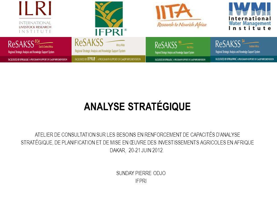 MATRICE DANALYSE DES POLITIQUES (MAP) La MAP est une représentation synthétique simple généralement utilisée pour évaluer les politiques dans des études sectorielles ou de filières.