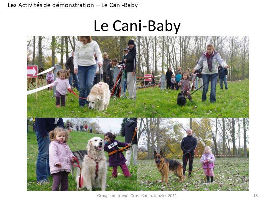 Le Cani-Baby 18 Les Activités de démonstration – Le Cani-Baby Groupe de travail Cross Canin, Janvier 2011