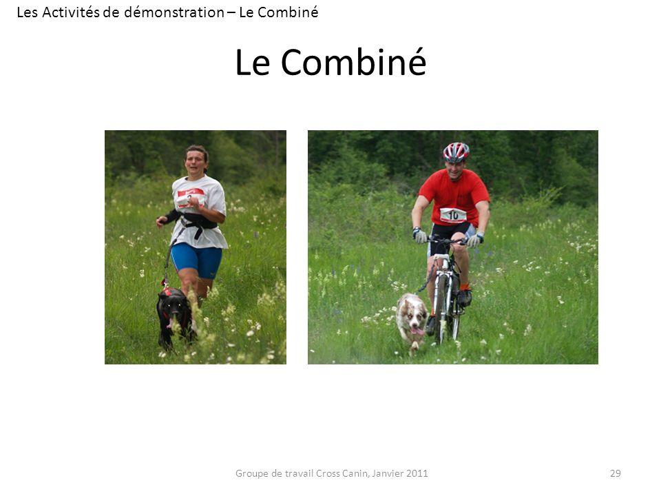Le Combiné 29Groupe de travail Cross Canin, Janvier 2011 Les Activités de démonstration – Le Combiné