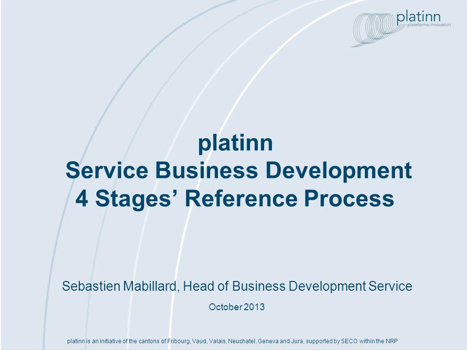 www.platinn.ch - info@platinn.ch Processus de référence «Affaires» (1)Evaluer lenvironnement interne et externe, IP, etc..