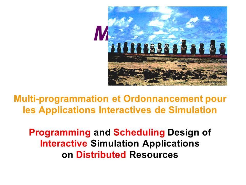 MOAIS Multi-programmation et Ordonnancement pour les Applications Interactives de Simulation Programming and Scheduling Design of Interactive Simulation Applications on Distributed Resources