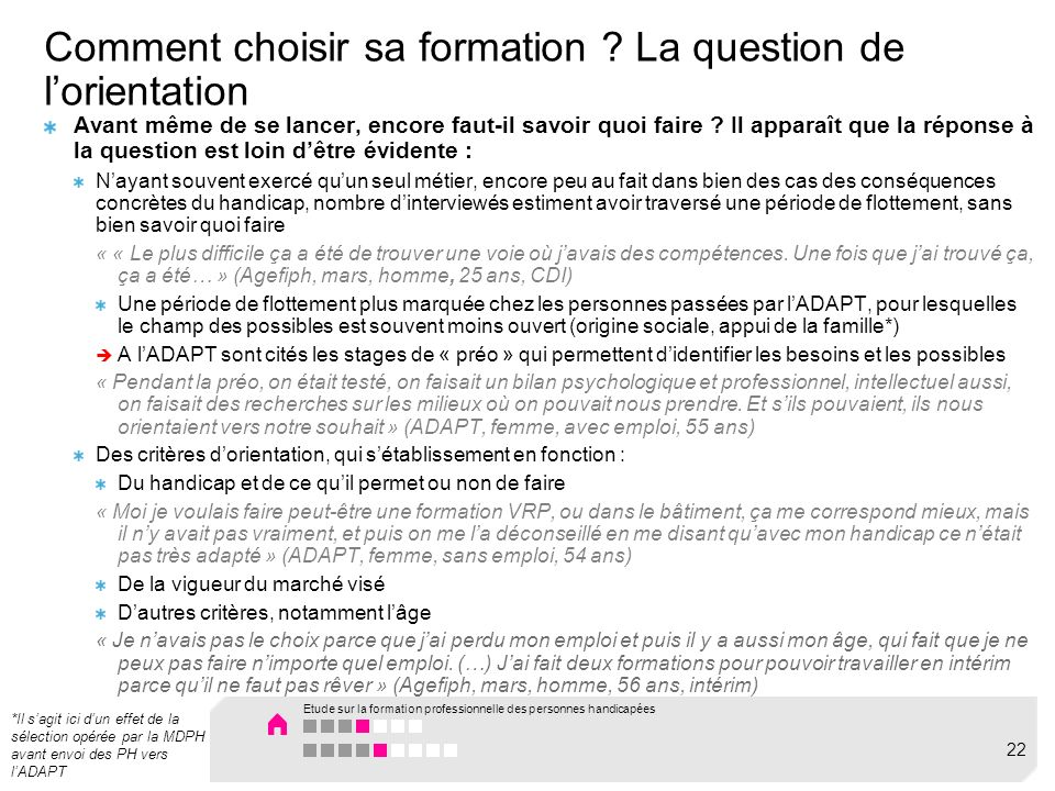 Comment choisir sa formation .