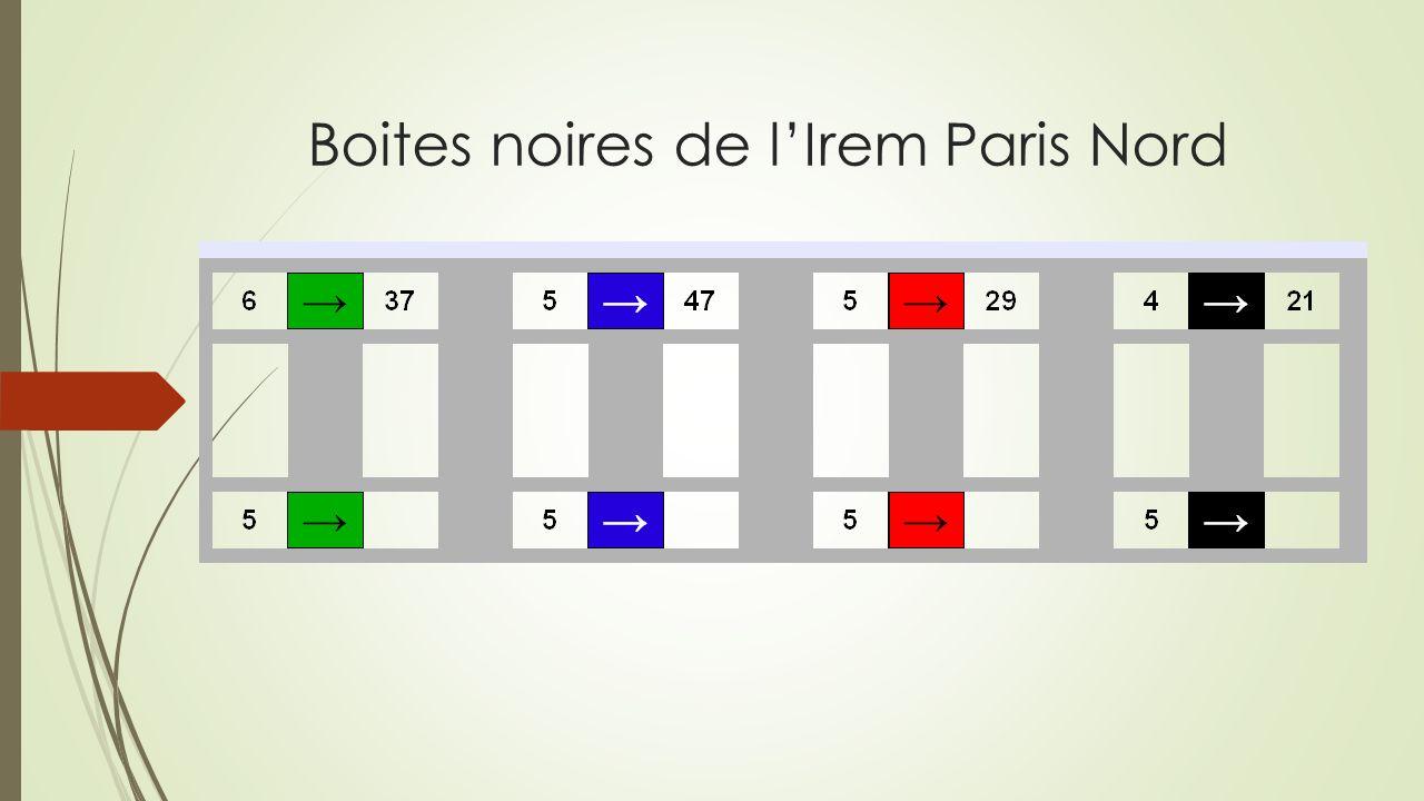 Boites noires de lIrem Paris Nord