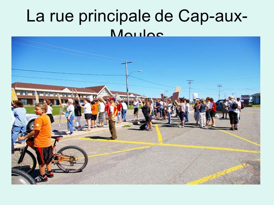 La rue principale de Cap-aux- Meules