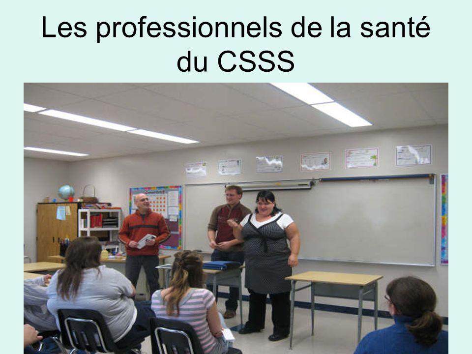 Les professionnels de la santé du CSSS