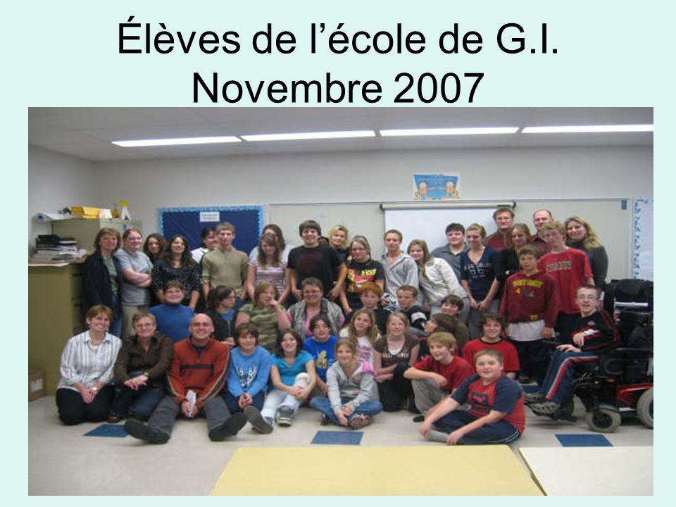 Élèves de lécole de G.I. Novembre 2007