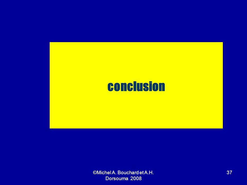 ©Michel A. Bouchard et A.H. Dorsouma 2008 37 conclusion