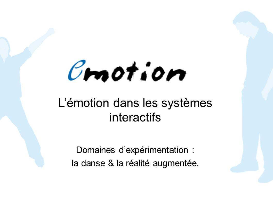 Lémotion dans les systèmes interactifs Domaines dexpérimentation : la danse & la réalité augmentée.