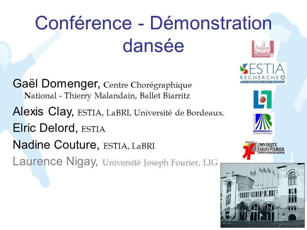 Conférence - Démonstration dansée Gaël Domenger, C entre C horégraphique N ational - Thierry Malandain, Ballet Biarritz Alexis Clay, ESTIA, LaBRI, Uni
