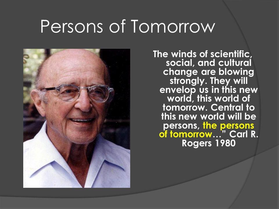 Persons of Tomorrow Les vents du changement scientifique, social, et culturel soufflent fortement.
