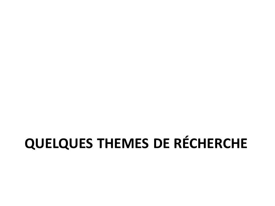 QUELQUES THEMES DE RÉCHERCHE