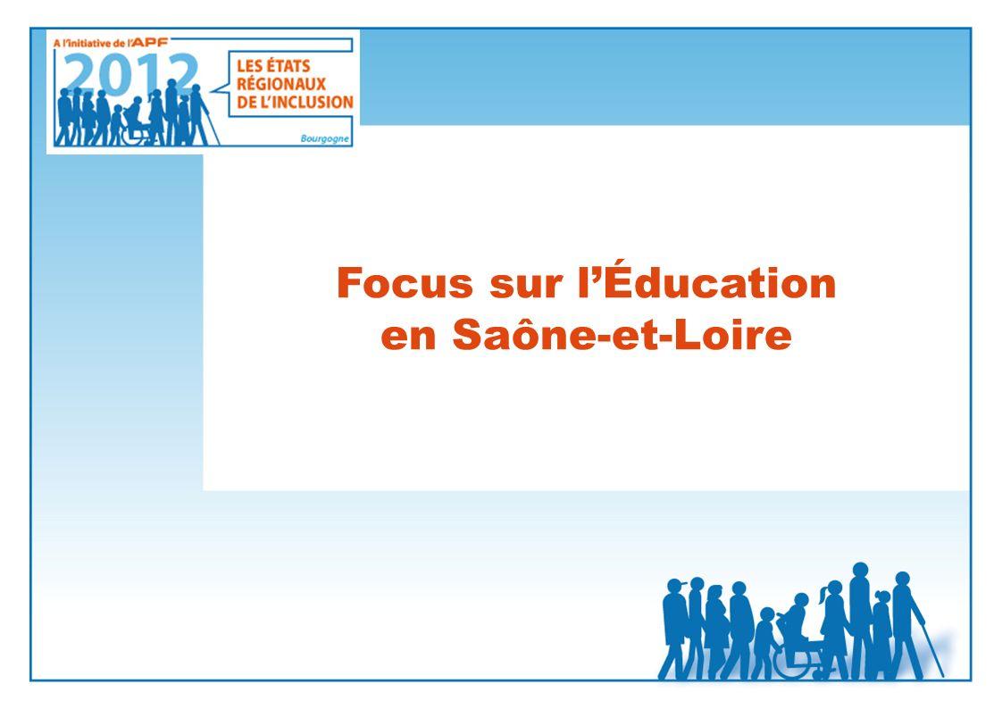 Focus sur lÉducation en Saône-et-Loire