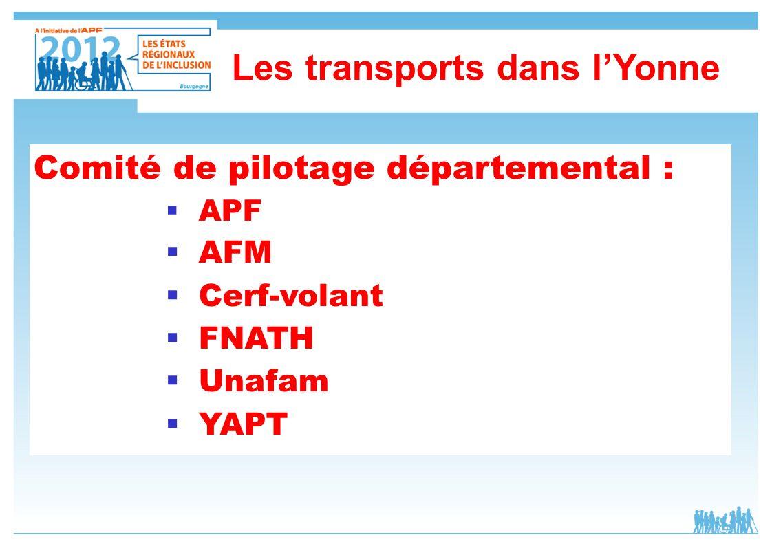 Comité de pilotage départemental : APF AFM Cerf-volant FNATH Unafam YAPT