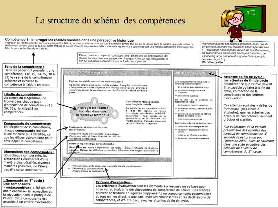 La structure du schéma des compétences
