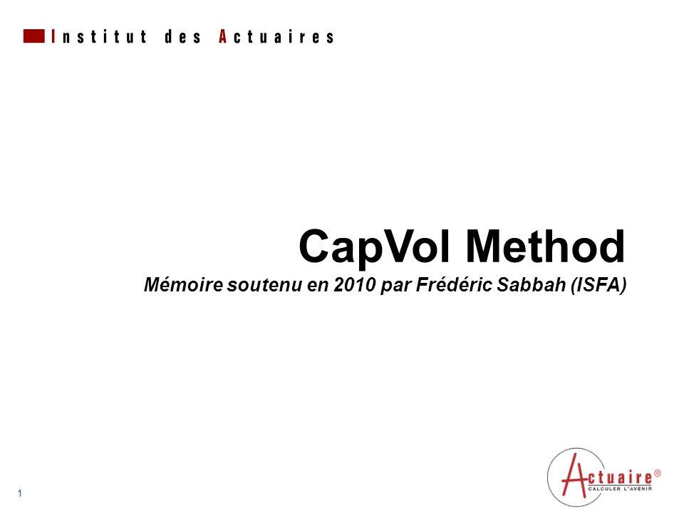 1 Encombrement maximum du logotype depuis le bord inférieur droit de la page (logo placé à 1/3X du bord; X = logotype) CapVol Method Mémoire soutenu en 2010 par Frédéric Sabbah (ISFA)