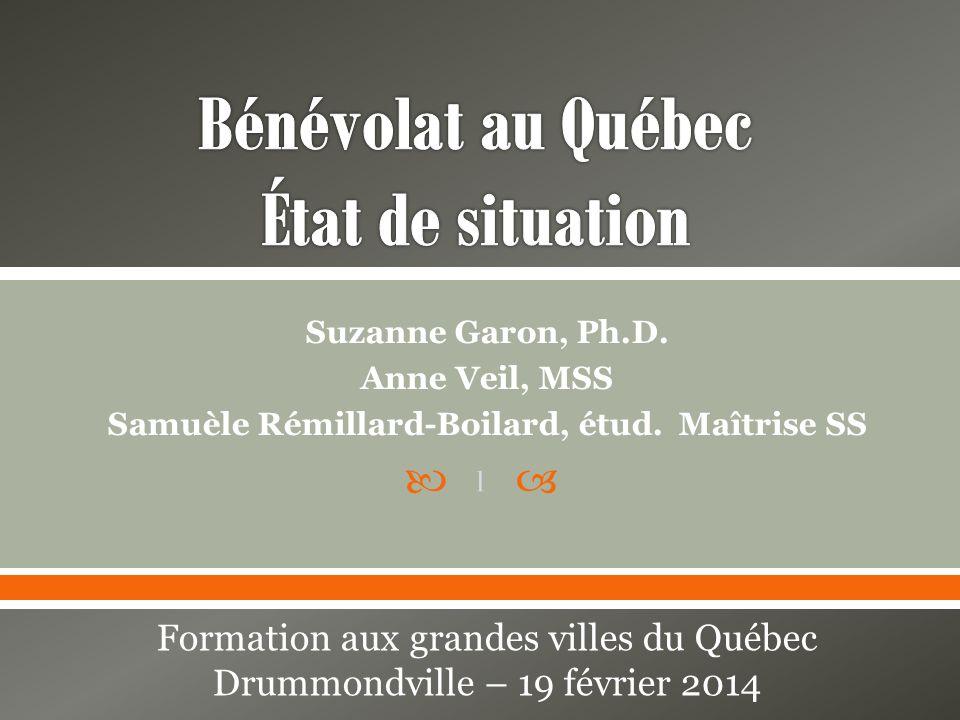 Suzanne Garon, Ph.D.Anne Veil, MSS Samuèle Rémillard-Boilard, étud.
