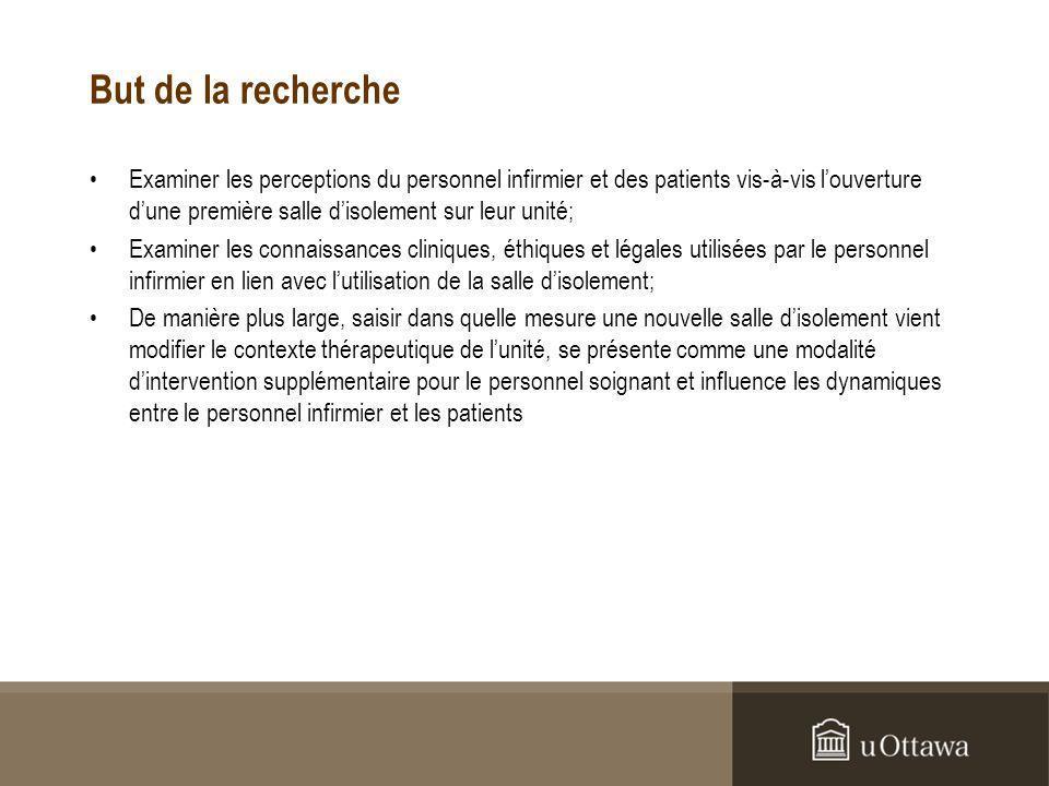 Résultats 1.Considérations procédurales Préférable aux contentions: PT-100: I have a very negative vision of the use of restraints.