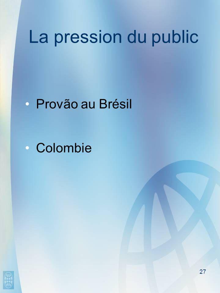 27 La pression du public Provão au Brésil Colombie