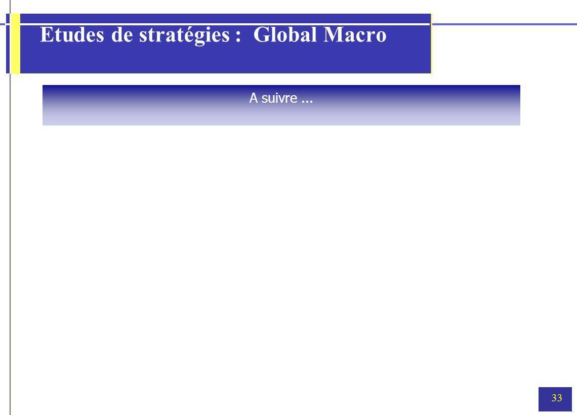 33 Etudes de stratégies : Global Macro A suivre...