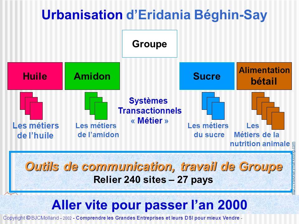 http://visionarymarketing.com Copyright BJCMolland – 2002 - Comprendre les Grandes Entreprises et leurs DSI pour mieux Vendre - Accueil Urbanisation d